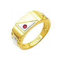 Anel de Formatura em Ouro 18k/750 com Zirconia ANF...