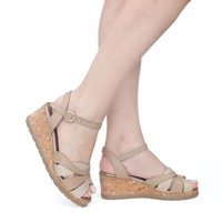 Sandália Feminina Anabela - Light Tan - 940006-LT