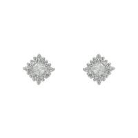 Brinco Zircônia Lesprit 65008 Ródio Cristal - LESPRIT BIJOUX FINAS