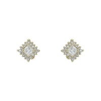 Brinco Zircônia Lesprit 65008 Dourado Cristal - LESPRIT BIJOUX FINAS