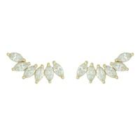 Brinco Ear Cuff Zircônia Lesprit Dourado Cristal - LESPRIT BIJOUX FINAS