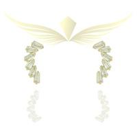 Brinco Zircônia Lesprit Dourado Cristal - LESPRIT BIJOUX FINAS