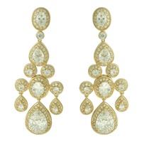 Brinco Zircônia Lesprit 00007 Dourado Cristal - LESPRIT BIJOUX FINAS