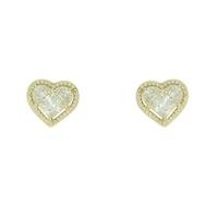 Brinco Zircônia Lesprit LB11711WGL Dourado Cristal - LESPRIT BIJOUX FINAS