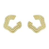 Brinco Zircônia Lesprit LB17361WGL Dourado Cristal - LESPRIT BIJOUX FINAS