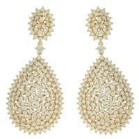 Brinco Zircônia Lesprit LB20151WGL Dourado Cristal - LESPRIT BIJOUX FINAS