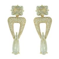 Brinco Zircônia Lesprit LB21601 Dourado Cristal - LESPRIT BIJOUX FINAS