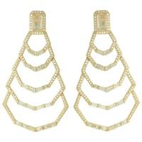 Brinco Zircônia Lesprit LB22631 Dourado Cristal - LESPRIT BIJOUX FINAS
