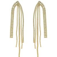 Brinco Zircônia Lesprit 68114781 Dourado Cristal - LESPRIT BIJOUX FINAS