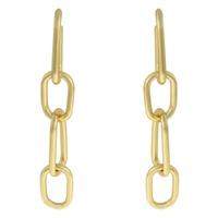 Brinco Elos Metal Lesprit 68115891 Dourado - LESPRIT BIJOUX FINAS