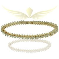 Pulseira Riviera Zircônia Lesprit Dourado Cristal - LESPRIT BIJOUX FINAS