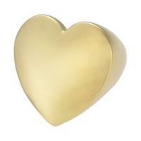 Anel Coração Metal Lesprit 00055 Dourado - LESPRIT BIJOUX FINAS