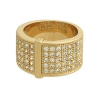 Anel Zircônia Lesprit 00031 Dourado Cristal - LESPRIT BIJOUX FINAS