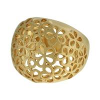 Anel Metal Lesprit 00040 Dourado Fosco - LESPRIT BIJOUX FINAS