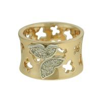 Anel Zircônia Lesprit 00004 Dourado Cristal - LESPRIT BIJOUX FINAS