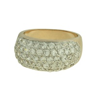 Anel Zircônia Lesprit 00007 Dourado Cristal - LESPRIT BIJOUX FINAS