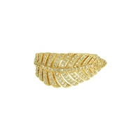 Anel Zircônia Lesprit LA03701WGL Dourado Cristal - LESPRIT BIJOUX FINAS