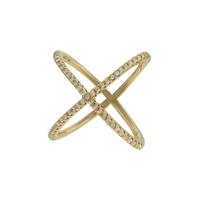Anel Zircônia Lesprit LA03911GL Dourado Cristal - LESPRIT BIJOUX FINAS