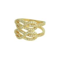 Anel Zircônia Lesprit LA07241WGL Dourado Cristal - LESPRIT BIJOUX FINAS