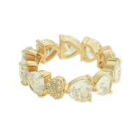 Anel Zircônia Lesprit LA09341 Dourado Cristal - LESPRIT BIJOUX FINAS