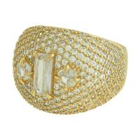 Anel Zircônia Lesprit LA10011 Dourado Cristal - LESPRIT BIJOUX FINAS