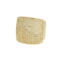 Anel Zircônia Lesprit LA04431 Dourado Cristal - LESPRIT BIJOUX FINAS