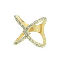 Anel Zircônia Lesprit LA05701WRHGL Dourado Cristal - LESPRIT BIJOUX FINAS