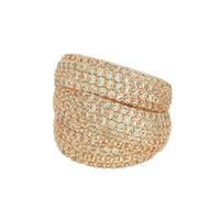 Anel Zircônia Lesprit LA05561WRS Rosé Cristal - LESPRIT BIJOUX FINAS