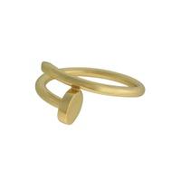 Anel Prego Liso Metal Lesprit 60100131 Dourado - LESPRIT BIJOUX FINAS