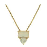 Colar Zircônia Lesprit LC05031 Dourado Cristal Fus... - LESPRIT BIJOUX FINAS