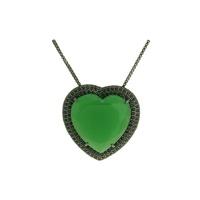 Colar Zircônia Lesprit LC02731 Ródio Negro Verde L... - LESPRIT BIJOUX FINAS