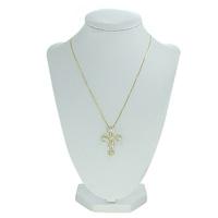 Colar Crucifixo Lesprit GL Dourado Cristal - LESPRIT BIJOUX FINAS