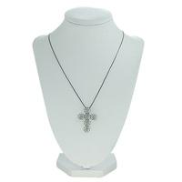 Colar Crucifixo Lesprit WBK Ródio Negro Cristal - LESPRIT BIJOUX FINAS