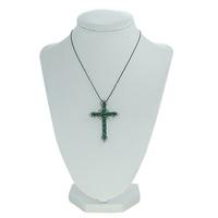 Colar Crucifixo Lesprit LBBK Ródio Negro Cristal e... - LESPRIT BIJOUX FINAS