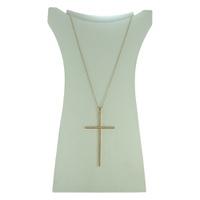 Colar Crucifixo Zircônia Lesprit 60013311 Dourado ... - LESPRIT BIJOUX FINAS