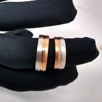 Aliança em Ouro de Casamento com Diamantes