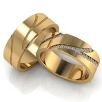 Aliança em Ouro 18k - Casamento