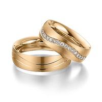 Aliança de Casamento Fosca com Diamantes
