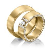 Aliança de Casamento - Cravejada com Diamantes