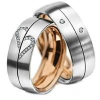 Aliança de Casamento Coração com Diamantes