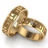 Aliança de Casamento - com Brilhantes Ouro 18k