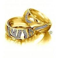 Aliança de Casamento Glamour com Diamantes