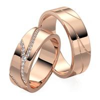 Aliança em Ouro 18k cravejada com Diamantes