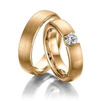 Aliança de Casamento com Diamantes de 30 Pontos