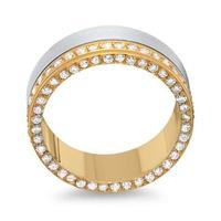 Aliança de Ouro 18k Cravejada com Diamantes