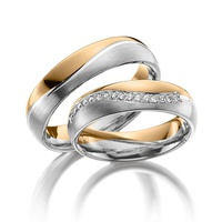 Aliança de Bodas com Diamantes