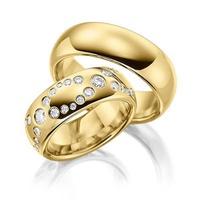 Aliança de Ouro - Casamento com Diamantes