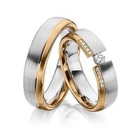 Aliança em Ouro 18k com Diamantes Flutuante