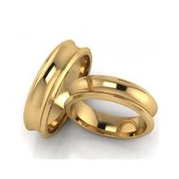Aliança Concava - Ouro 18k 750