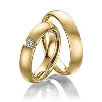 Aliança de Casamento - Ouro 18k com Diamante